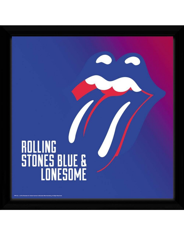 Album de Musique encadre 30x75 cm The Rolling Stones Blue and Lonesome