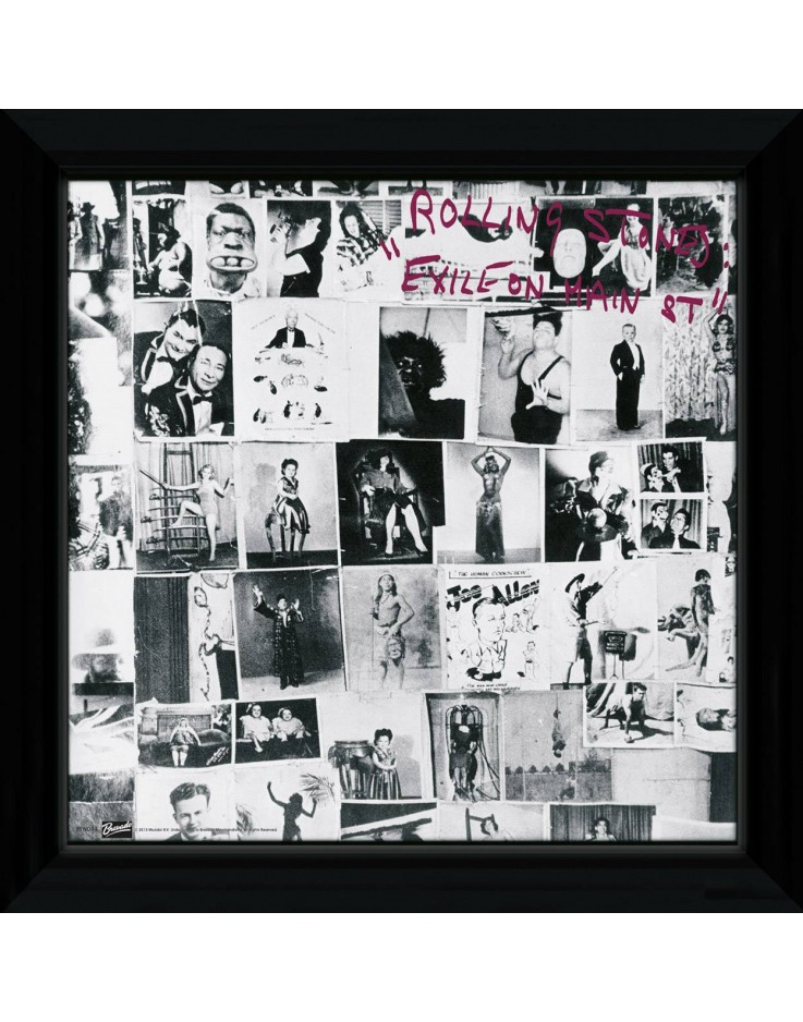 Album Encadré The Rolling Stones Exile on Main 30 x 30 cm