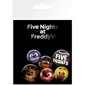 Set de Boutons Five Nights at Freddys Mix