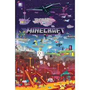 Affiche Maxi Minecraft World Beyond 61x91.5cm