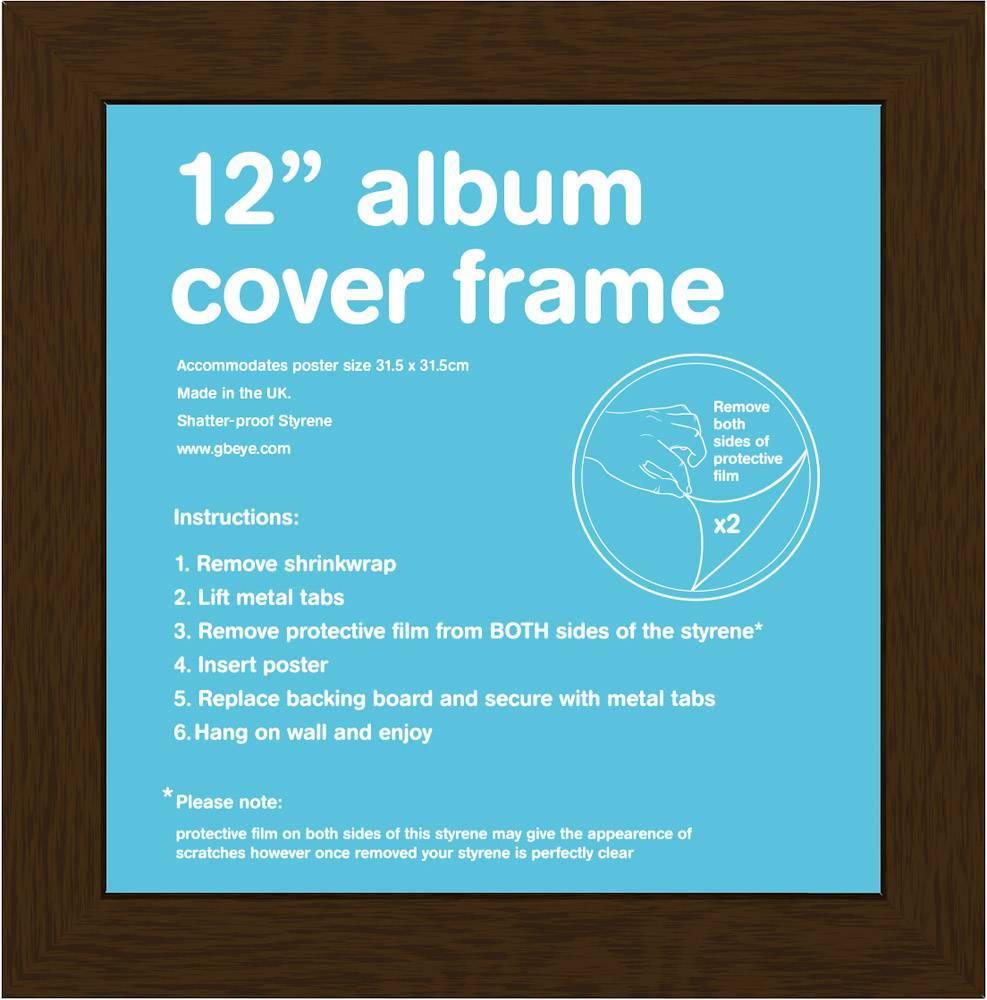 "Image of 12"" Record Sleeve Album Frame Flat MDF Frame"