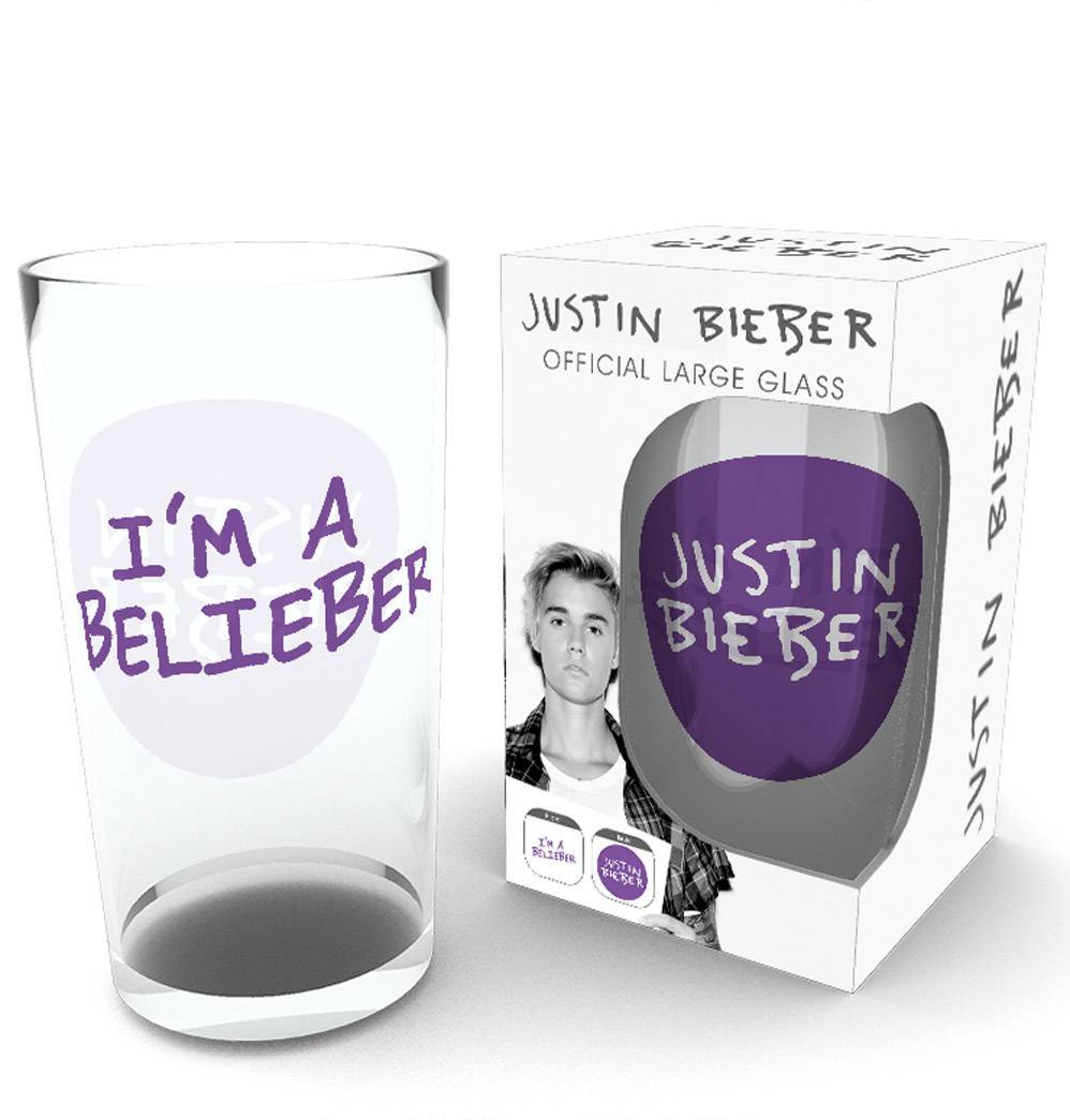 Justin Bieber Belieber Pint Glass