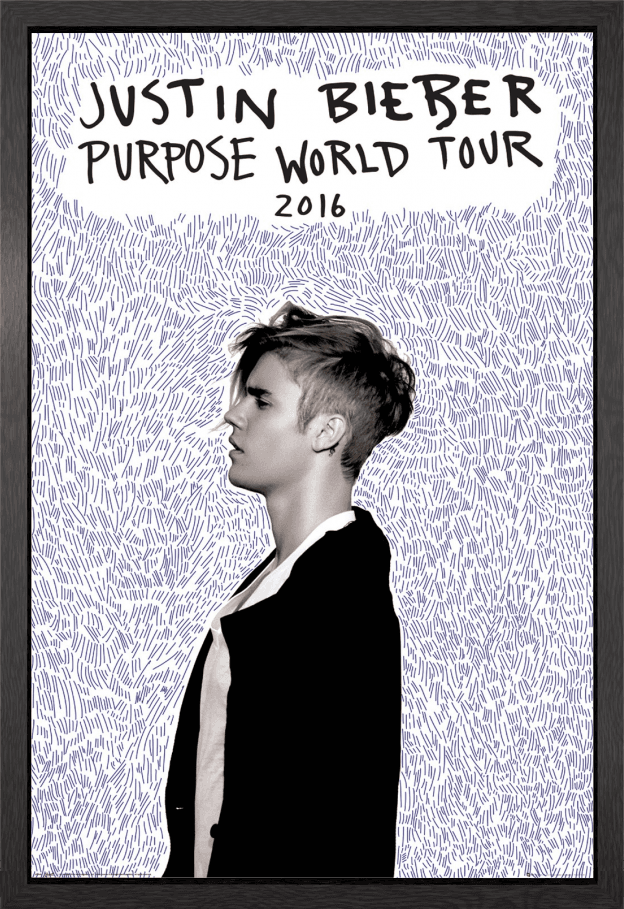 Justin Bieber Purpose Tour Framed Maxi Poster