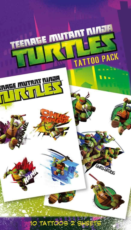 Teenage Mutant Ninja Turtles Shellheads Tattoo Pack
