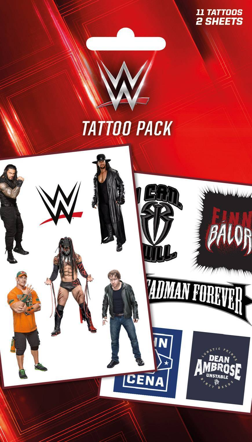 WWE Logos And Superstars Tattoo Pack