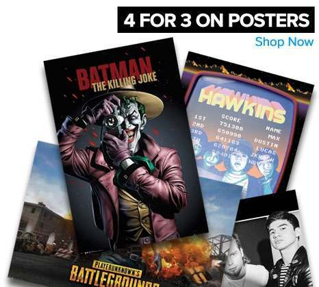 4 for 3 on posters