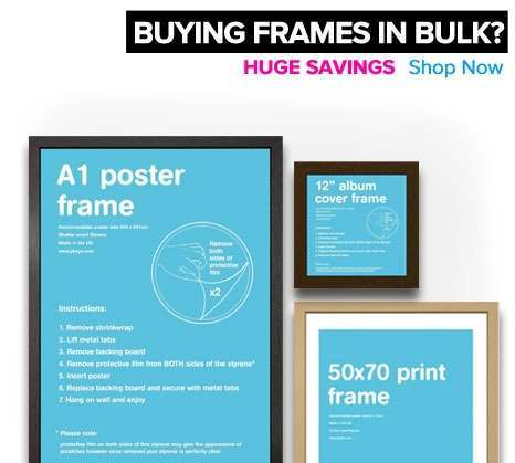 Savings when buying frames in bulk